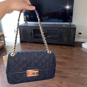 Michael Kors Denim Gold handbag
